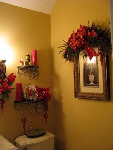 decoracion navideña para baños de navidad