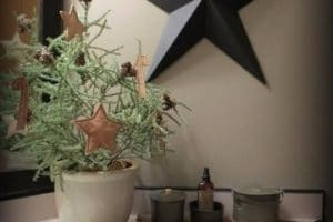 Decoracion navideña para baños en foami y en fieltro