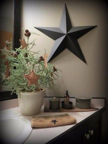 decoracion navideña para baños en casa