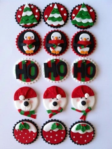 galletas de navidad decoradas con fondant