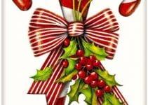 4 imagenes de bastones navideños para decorar y aguinaldos