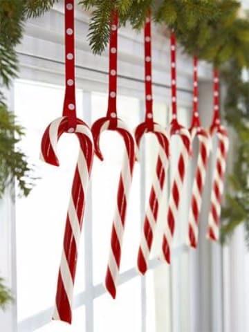 imagenes de bastones navideño decorados