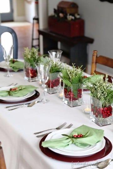 Mesas decoradas para navidad sencillas y originales - Decoracion de navidad para mesas ...