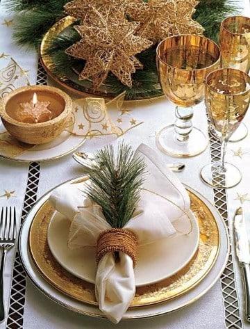 mesas decoradas para navidad etiqueta