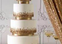 Modelos de tortas de bodas de oro para aniversario 50