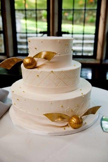 tortas de bodas de oro imagenes