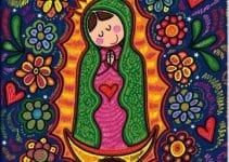 Virgen de guadalupe fotos animada y para colorear