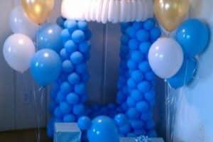 Imagenes con ideas de arcos de globos para baby shower