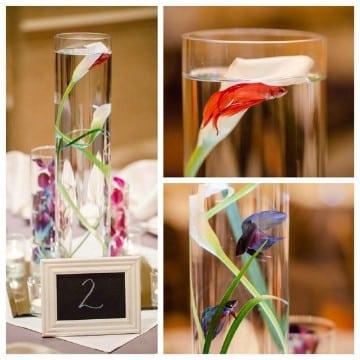 centros de mesa con peces decoradas