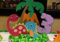 Imagenes de centros de mesa de dinosaurios para niños