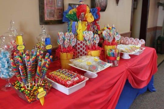 centros de mesa de payasos para fiestas infantiles
