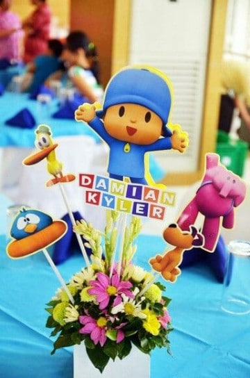 Ideas de centros de mesa de pocoyo para fiestas infantiles - Mesas para cumpleanos infantiles ...
