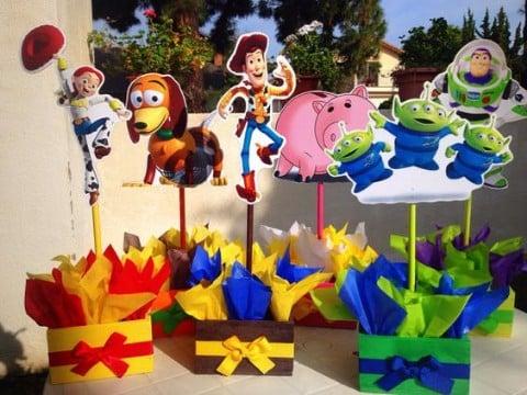 centros de mesa de toy story 3 años