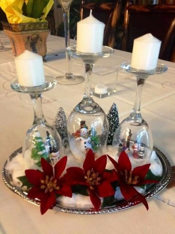 centros de mesa navideños caseros paso a paso