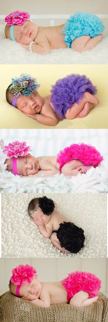 como hacer tutus de colores para bebes