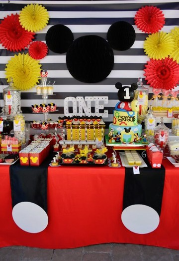 Decoraciones de cumplea os de mickey bebe ideas practicas for Decoracion cumpleanos nino