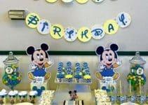 Decoraciones de cumpleaños de mickey bebe ideas practicas