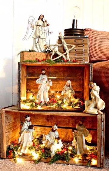 decoracion de nacimientos navideños grandes
