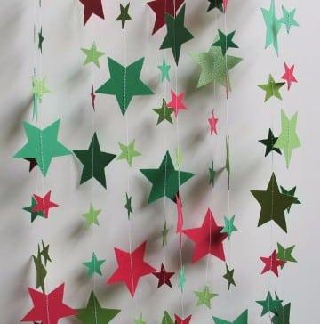 Ideas de como decorar con guirnaldas navide as de papel - Guirnaldas navidad manualidades ...