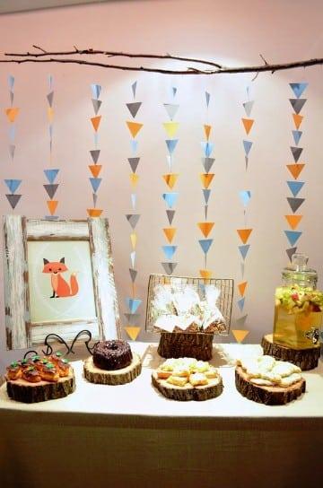 Ideas de decoraciones con guirnaldas para baby shower - Decoracion de guirnaldas ...