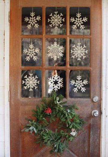 ideas para decorar en navidad economicas n ventanas1