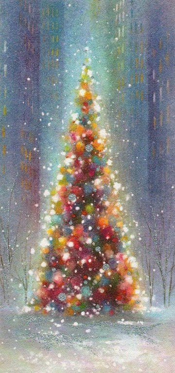 imagenes de pinos navideños para colorear