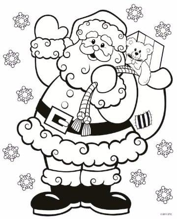 imagenes navideñas para dibujar de papa noel