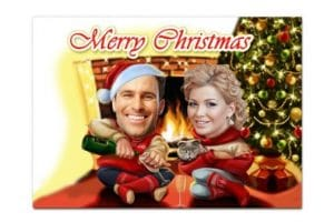 Postales navideñas personalizadas gratis para imprimir