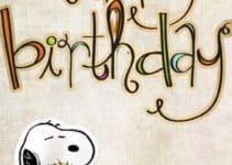Imagenes con ideas de tarjetas de cumpleaños de snoopy