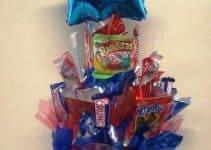 Imagenes con ideas de arreglos de dulces para hombres
