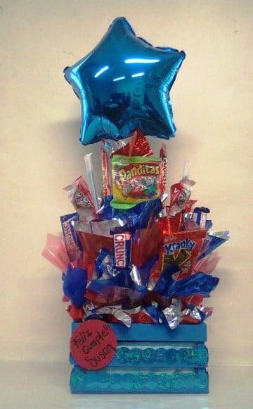 arreglos de dulces para hombres cumpleaños