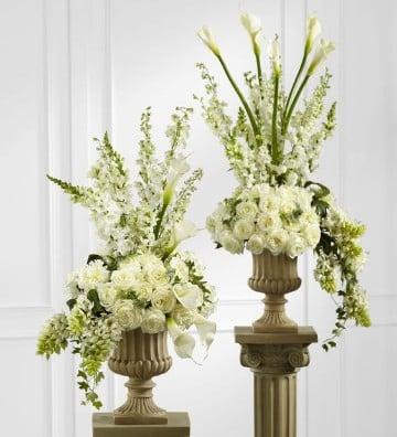 Hermosas ideas de arreglos florales para iglesia centros - Arreglos florales para bodas ...
