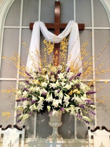 arreglos florales para iglesia cristianas