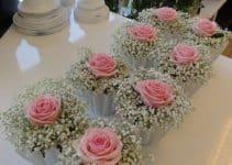 Decoraciones con centros de mesa con flores naturales