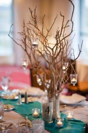Como hacer hermosos centros de mesa con ramas centros de for Decoracion con ramas secas