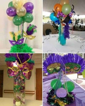 centros de mesa de carnaval decoracion