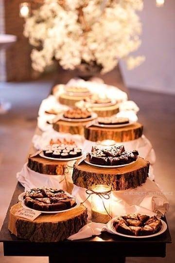 centros de mesa de madera para 15 años elegantes