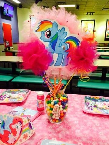 centros de mesa de my little pony adornos