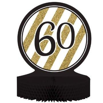 centros de mesa para 60 años cumpleaños