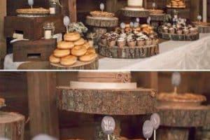 Arreglos y centros de mesa rusticos para boda originales