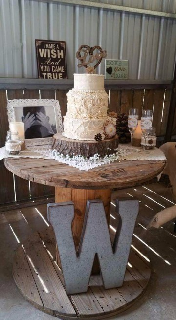 centros de mesa rusticos para boda original