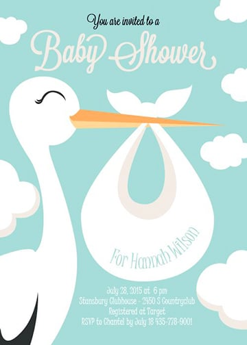 cigueñas para baby shower para imprimir