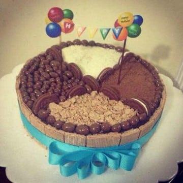 decoracion de tortas con golosinas infantiles