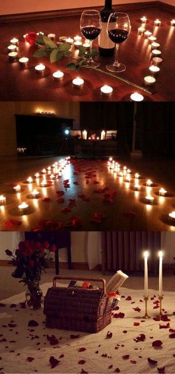 ideas para una noche romantica como decorar