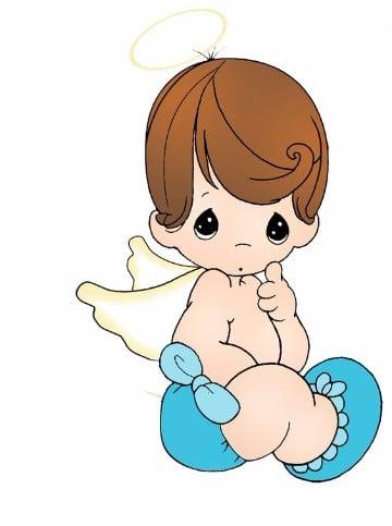 imagenes de angelitos para bautizo de niño