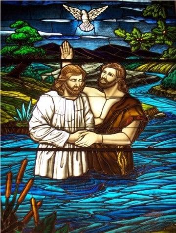 imagenes del bautismo de jesus catolico