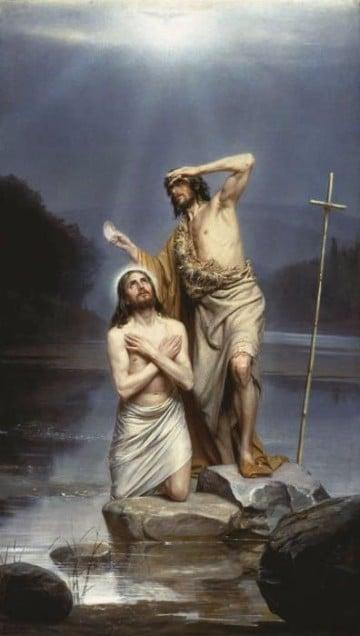 imagenes del bautismo de jesus para dibujar