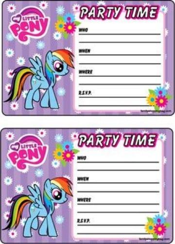 invitaciones de my little pony gratis
