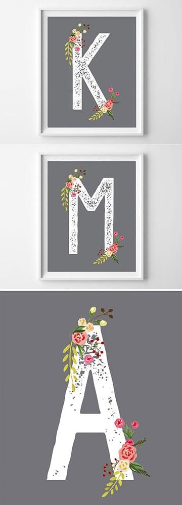 letras para baby shower para imprimir
