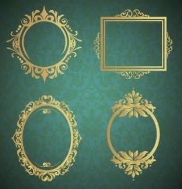 marcos para invitaciones de boda fondos